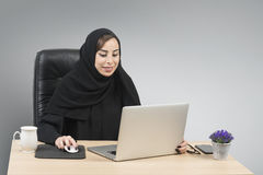 Young Arabian Businesswoman working in the office Royalty Free Stock Image