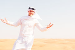Young Arabian Man In The Desert Royalty Free Stock Image