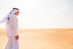 Young Arabian Man In The Desert Stock Photography