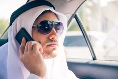 Young Arabian Man Sitting In The Car Royalty Free Stock Image
