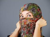 Young arabian woman in hijab royalty free stock photo