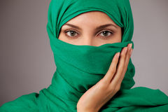 Young arabian woman in hijab. Isolated Royalty Free Stock Photos