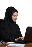 Young Arabic business woman, working in office Stock Photo
