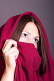 Young arabic woman. Portrait of young arabic woman royalty free stock photo
