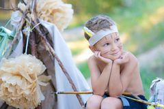 Young archer Royalty Free Stock Photos