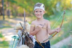 Young archer Stock Photo
