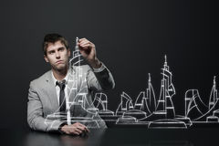 Young architect Royalty Free Stock Photo