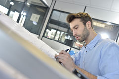 Young architect designing a new project Royalty Free Stock Photo