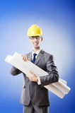 Young architect with drawings Stock Photo