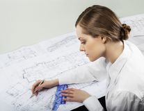 Young architect stock images