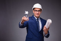 The young architect in industrial concept Stock Images