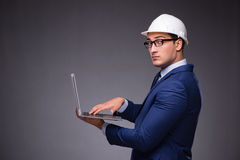 The young architect in industrial concept Royalty Free Stock Photo