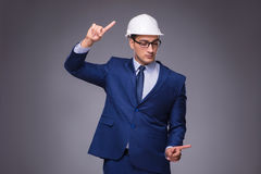 The young architect in industrial concept Stock Image