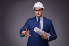 The young architect in industrial concept. Young architect in industrial concept Stock Images