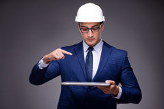 The young architect in industrial concept Royalty Free Stock Images