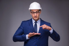The young architect in industrial concept Stock Photo
