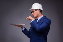 The young architect in industrial concept Royalty Free Stock Photos