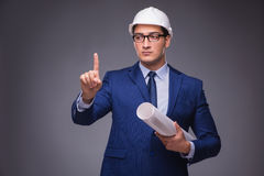 The young architect in industrial concept Royalty Free Stock Photography