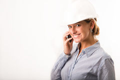 Young Architect on the phone Royalty Free Stock Photos
