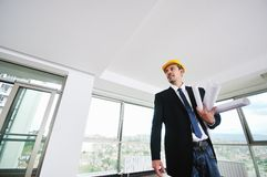 Young architect portrait Royalty Free Stock Image