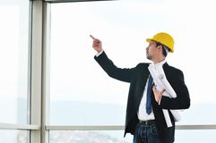 Young architect portrait royalty free stock photos