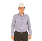 Young architect posing in his hardhat Stock Photos