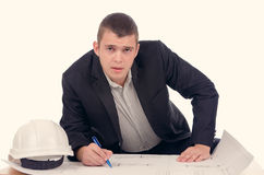Young architect or structural engineer Stock Photos