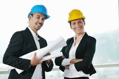 Young architect team Stock Image