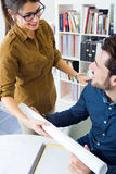 Young architect team working at office Royalty Free Stock Photo