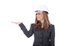 Young architect woman Stock Images
