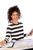 Young Architect Woman at Work Stock Image