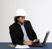 Young architect at work Royalty Free Stock Photography