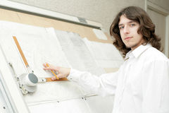 Young architect working Stock Photo