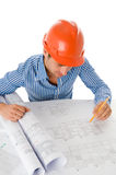 Young architect working Stock Image