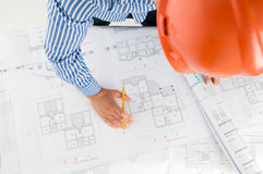Young architect working Stock Photography