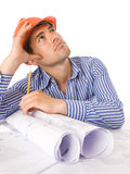 Young architect working Royalty Free Stock Images