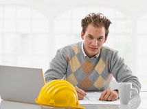 Young architect working Royalty Free Stock Photography