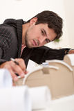 Young architect working at office Royalty Free Stock Photo