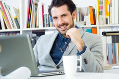 Young architect  working at office Stock Image