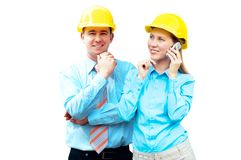 Young architects Royalty Free Stock Photography