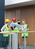 Young architects studying a building Stock Photo