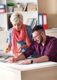Young architects working on new project in office Royalty Free Stock Photography