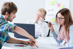 Young architects working Royalty Free Stock Photography