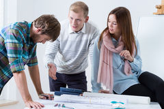 Young architects working on a project Stock Image