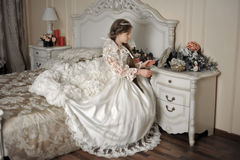 Young aristocrat sitting Royalty Free Stock Photography