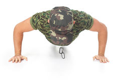 Young army soldier doing push up Stock Photography