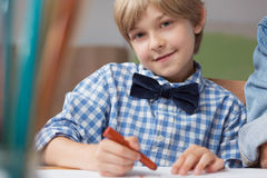 Young artist drawing picture Stock Photo