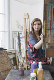 Young Artist Painting In Art Studio Stock Photo