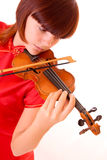 Young artist with play violin Stock Images