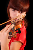 Young artist with play violin Royalty Free Stock Image